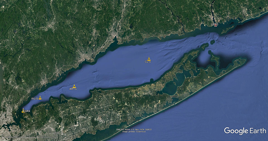 Long Island Sound Buoy Locations